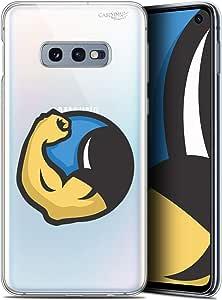 三星 Galaxy S10 (6.1) 手机壳 保护壳 保护壳 高清凝胶 柔软 - 防震 - 法国印花CRYSPRNTS10MUSCLE  Samsung Galaxy S10 Monsieur Muscle