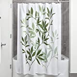 InterDesign Leaves Shower Curtain, Green, 72-Inch by 72-Inch