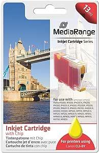 墨盒 MediaRange 佳能 CLI-8Y 黄色 14.8 毫升 含芯片
