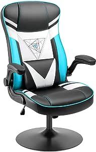 Homall Rocking 游戏椅 竞赛电脑游戏椅 办公可调节旋转高背 PC 游戏椅 扶手支撑 适用于成人