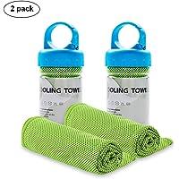 WuJi 运动毛巾 即时冷却 Tancano 超细纤维毛巾 高尔夫锻炼 游泳健身瑜伽 旅游 露营健身 101.6 厘米…
