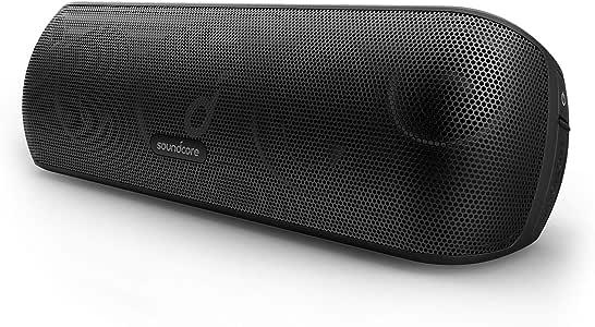 Anker Soundcore Motion+ 蓝牙音箱,高分辨率 30W 音频,扩展低音和高音,无线 HiFi 便携式音箱,带应用程序,可定制 EQ,12 小时播放时间,IPX7 防水,USB-C