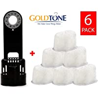 GoldTone 品牌 6 树脂滤水器 + 滤水器支架。 替换您的 Keurig 1.0 过滤器架 + Keurig 离…