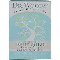 Dr. Woods 无香型婴儿温和香皂,含有机乳木果油,适合敏感肌肤,5.25 盎司 Unscented Baby Mild 1包 2.25