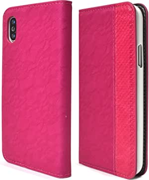 PLATA 蕾丝设计皮革手机壳  粉色 1_iPhone X