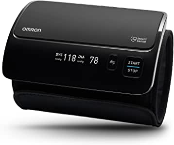 OMRON欧姆龙EVOLV全合一上臂电子血压计,无线,黑色,带袖套