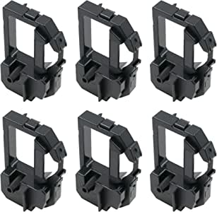 Printerfield Lot 6 张打印机丝带 适用于 Brother Mini 80/O'Neil MicroFlash 8i 270 - 黑色