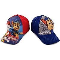 Nickelodeon 男童狗狗巡逻队角色棉质棒球帽,2 件套设计套装,适合 2-7 岁儿童  蓝色,红色 Toddler Boys - Age 2-4 (51CM)