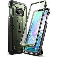 SUPCASE 独角兽甲壳虫专业系列手机壳,专为三星 Galaxy S10e 设计(2019 年版本),全身双层坚固皮套和支架手机壳,内置屏幕保护膜(*)
