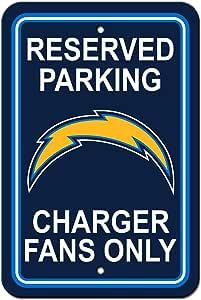 BSI NFL Los Angeles Chargers 塑料停车标志 - 停车,均码,多色