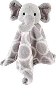 Hudson Baby Animal Friend 毛绒*毯 灰色大象 14 x 14 Inches