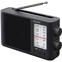 Sony 索尼 ICF506模拟调音便携式FM / AM收音机,带有电池/交流电源
