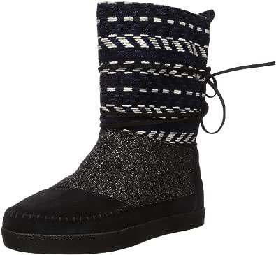 TOMS 麂皮绒提花女式尼泊尔靴
