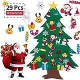 AMASKY 毛毡圣诞树,9.53 米 DIY 圣诞树,29 件圣诞礼物圣诞老人装饰墙壁装饰带挂绳,适用于家庭门装饰