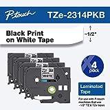 Brother Genuine P-touch,TZe-2314PKB 胶带 1⁄2 英寸(0.47 英寸)x 26.2…
