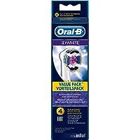 Oral-B 欧乐B 4只装可充电电动牙刷替换刷头 3D白 --德国版 EB18 4支