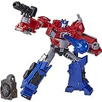 Transformers Toys Cyberverse Deluxe Class Optimus Prime 可动公仔,Matrix Mega Shot 攻击移动和搭建玩具,适合 6 岁及以上儿童,5 英寸
