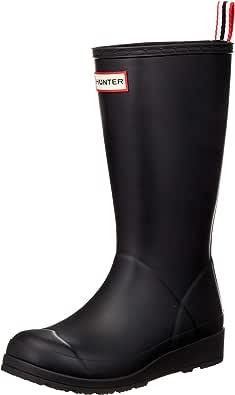 Hunter 女士 Original Play 长筒雨靴 黑色 6 M US