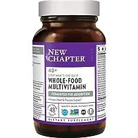 New Chapter 男士复合维生素,每天1粒,40岁以上,益生菌+锯棕榈+ B维生素+维生素D3 +Organic Non-GMO成分-48粒