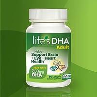 Life's DHA 全素食DHA膳食补充剂 来自天然植物来源 200毫克DHA Omega-3 | 60粒软胶囊