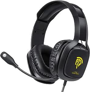 游戏耳机 Xbox One 耳机,PS4 耳机,带降噪麦克风和 LED 灯的电脑耳机,游戏耳机,适用于 PC,PS4,Xbox One 控制器(不含适配器),Nintendo Switch,Mac