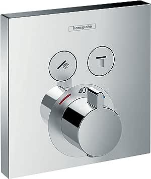 Hansgrohe 汉斯格雅 ShowerSelect 恒温器 双功能 暗装 方形 白色/镀铬