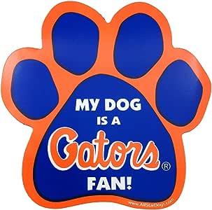 NCAA Florida Gators Paw Print Car Magnet