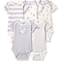 Gerber 嘉宝 女婴款连体紧身短袖5件装,适合婴幼儿,绵羊印花,适合6-9个月的人群