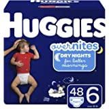 HUGGIES OverNites Diapers, Size 6, 48 ct, Overnight Diapers (Packaging May Vary)