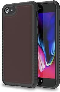 ORASE Vegan PU 皮革保护套苹果 iPhone 7/8 时尚*防护盔甲,军事级保护 | 触觉手柄防滑和气垫技术