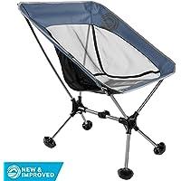Wildhorn Terralite 超轻重型户外折叠露营椅 – 适合成人、海滩、旅游、背包旅行和露营