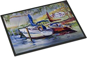 "Caroline's Treasures Lucky Dream Sailboat Indoor or Outdoor Mat, 24"" x 36"", Multicolor"