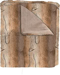 SARO LIFESTYLE 动物图案设计人造毛皮毯,127 cm x 152.4 cm,黑色 天然 TH050.N5060