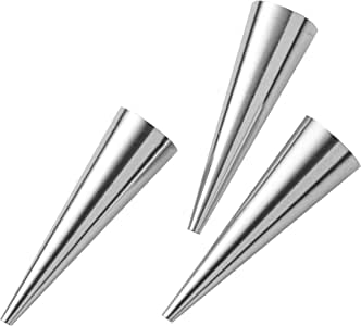 pedrini 小工具形状用于加满面小面包屑,不锈钢,银,3件