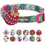 Blueberry 宠物圣诞狗项圈 - 常规项圈或个性化金属螺纹项圈 Sweet Fantasy Regular Collar - Small