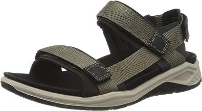 Ecco Outdoor 男式 X-TRINSIC 系带运动凉鞋,暖灰色织物,6