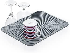 Kitchen Craft KCDMATFLEX 弹性热塑性橡胶盘干燥垫,30 x 40 厘米(12 英寸 x 15.5 英寸)- 灰色