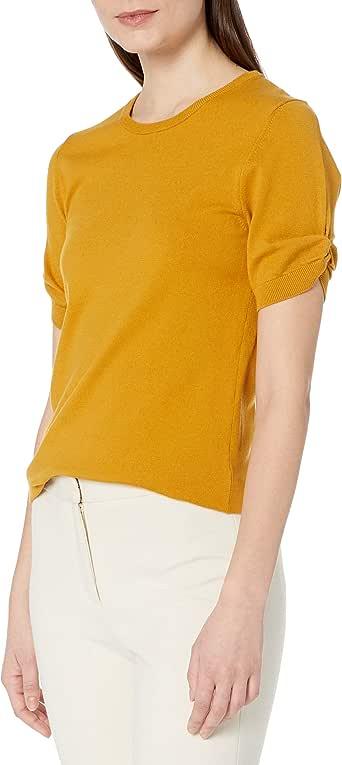 亚马逊品牌 - Lark & Ro 女式打结短袖毛衣