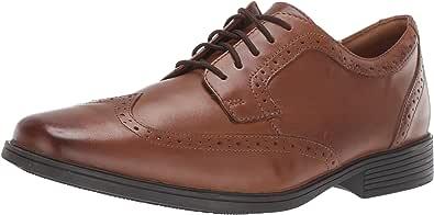 Clarks Tilden Wing 男士牛津布皮鞋