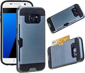 适用于 Galaxy S8 Plus 手机壳,JOBSS 超薄混合防震防摔防刮卡槽钱包手机保护壳适用于三星 Galaxy S8 Plus 深蓝