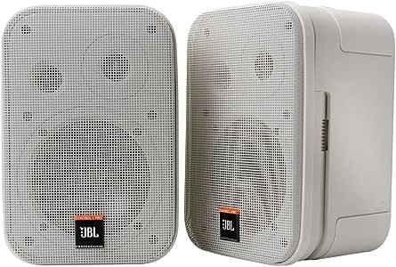 JBL Professional Control 1 Pro高性能 二分频 专业小巧扬声器系统,白色(成对出售)-C1PRO-WH