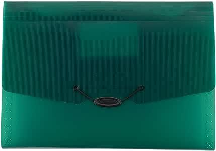 Mead 扩展文件文件夹,学校整理器,纸整理器,13 个口袋,9-1/4 英寸 x 13 英寸,可扩展,红色 (38526) 绿色