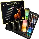 Black Widow Monarch 成人彩色铅笔 - 48 支带光滑颜料的彩色铅笔 - 适合成人着色书和绘图的*佳彩…