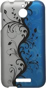 zizo HTC Desire 510可脱卸涂胶硬壳保护套–零售包装–蓝色藤蔓