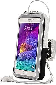 Note 8 臂带,iMangoo 跑步臂带 Galaxy Note 8 运动臂章健身房腕包锻炼臂包袖带钥匙扣/卡槽钱包式手机壳适用于三星 Note 8 Note 3/4 Moto G4/G4 Plus4326456312  Z-黑色