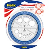 Maped Helix 带有集成圆形模板的圆角规,360度,6英寸/ 15厘米,多种颜色(36002)