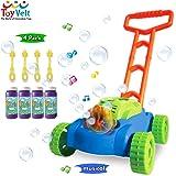 ToyVelt 儿童泡泡割草机 – 自动泡泡机带音乐声音,适合学步儿童,4 x 瓶溶液和 4 x 棒子 – 适合 2…