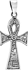 AeraVida 永恒的 ANKH 十字与象形 925 纯银吊坠