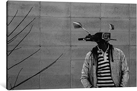 iCanvasART 11198-1PC6-40x26 Moped Head Canvas Print by Unknown Artist, 1.5 x 40 x 26-Inch