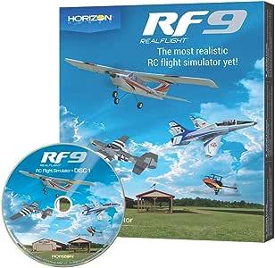 RealFlight 9:RF9 RC 飞行模拟器软件带 Spektrum Interlink-DX 控制器 RF9 Software Only - No Controller Rf9 Software Only - No Controller